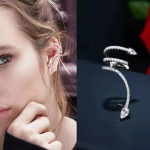 1PC Snake Personality Clip Earrings